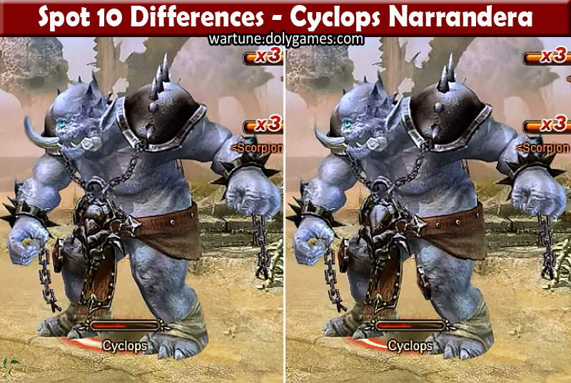 Spot 10 Differences - Cyclops Narrandera