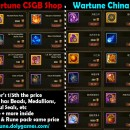 CSGB Shop comparison China vs Western