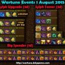 Wartune Events 1 August 2015