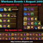 Wartune Events 1 August 2015