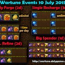 Wartune Events 10 July 2015