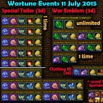 Wartune Events 11 July 2015