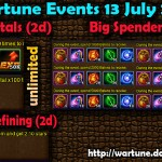 Wartune Events 13 July 2015