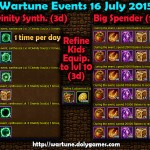 Wartune Events 16 July 2015