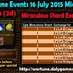 Wartune Events 16 July 2015 Mid-Day