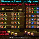 Wartune Events 21 July 2015
