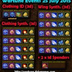 Wartune Events 25 July 2015
