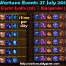 Wartune Events 27 July 2015