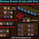 Wartune Events 29 July 2015