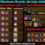 Wartune Events 30 July 2015