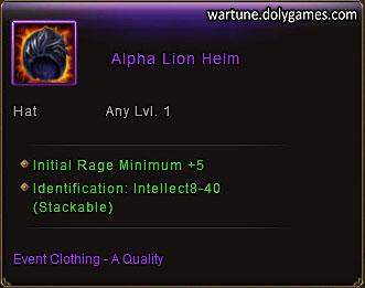 Alpha Lion Helm item description