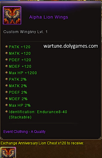 Alpha Lion Wings item description