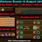 Wartune Events 13 August 2015