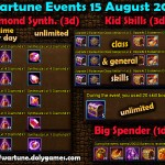 Wartune Events 15 August 2015