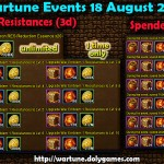 Wartune Events 18 August 2015
