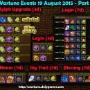 Wartune Events 19 August 2015