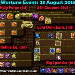 Wartune Events 23 August 2015