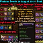 Wartune Events 26 August 2015 - Part 1