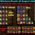 Wartune Events 29 August 2015