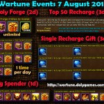 Wartune Events 7 August 2015