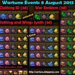 Wartune Events 8 August 2015