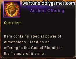 Ancient Offering item description