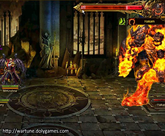 Fire BOSS in Battle