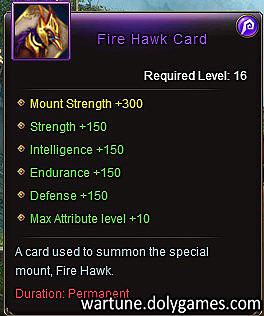 Fire Hawk Card