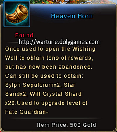 Heaven Horn drops after Sep 2015 patch