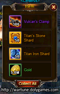 Rewards from Killing Dark Servant