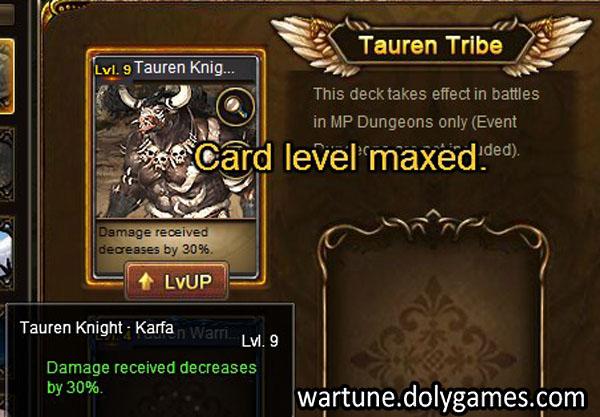 Tauren Knight Karfa 30 percent damage reduction - card system