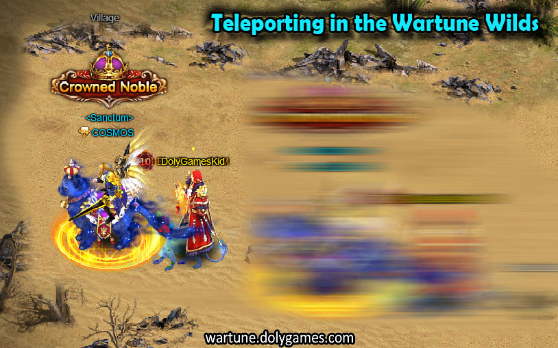 Teleporting in the Wartune Wilds