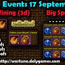 Wartune Events 17 September 2015