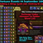 Wartune Events 19 September 2015
