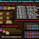 Wartune Events 20 September 2015