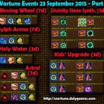 Wartune Events 23 September 2015 - Part 1