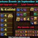 Wartune Events 26 September 2015