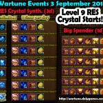Wartune Events 3 September 2015
