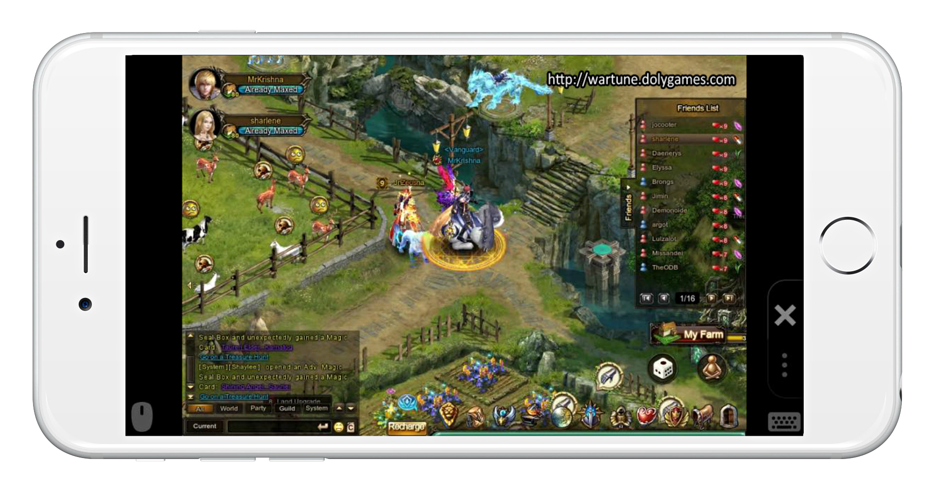 Wartune on Smartphone
