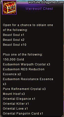 Werewolf Chest item description