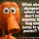 Dungeon Hugging and Jumping Q Bert