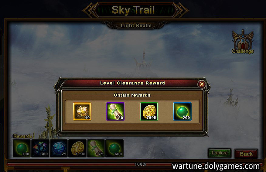 Sky Trail Stage 2 Level Clearance Reward