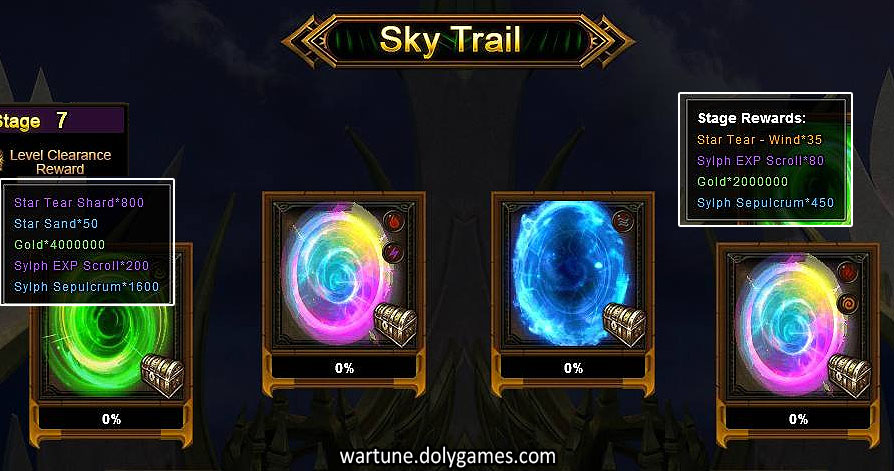 Sky Trail Stages (Stage 7) and Rewards