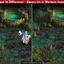 Spot 10 Differences – Alpaca Iris in Wartune Swamp