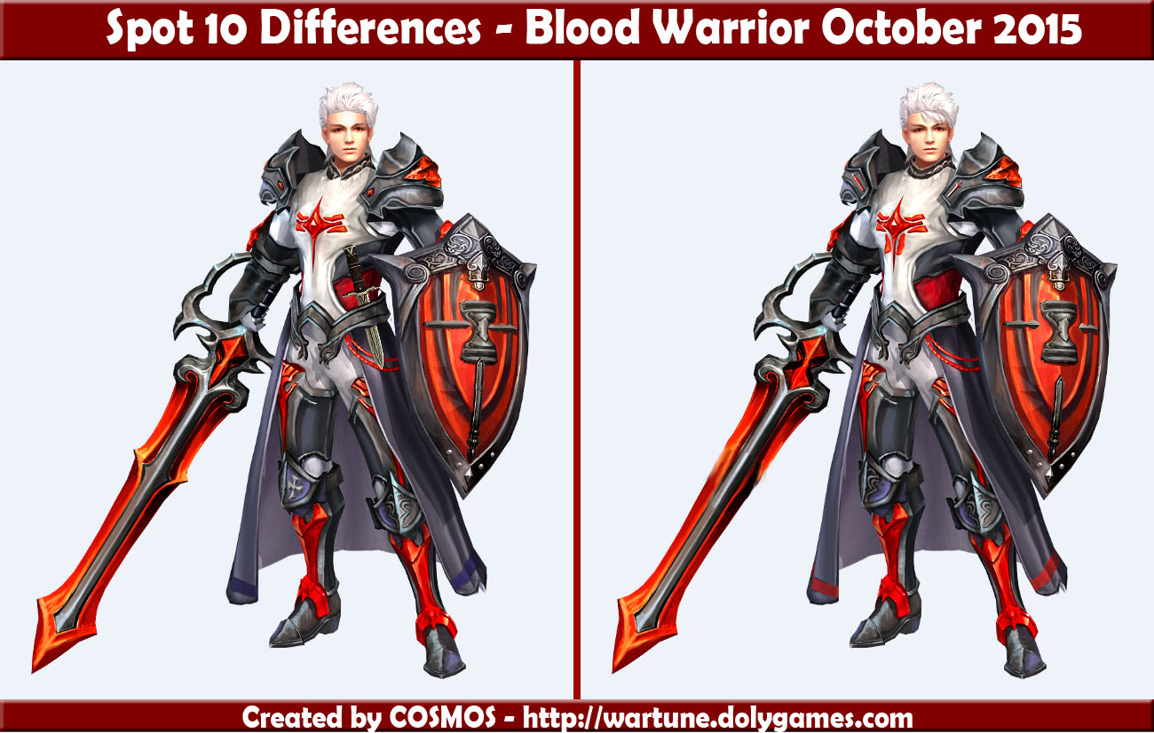 Spot 10 Differences - Blood Warrior October 2015