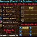 Wartune Events 23 October 2015