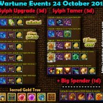 Wartune Events 24 October 2015