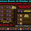 Wartune Events 26 October 2015