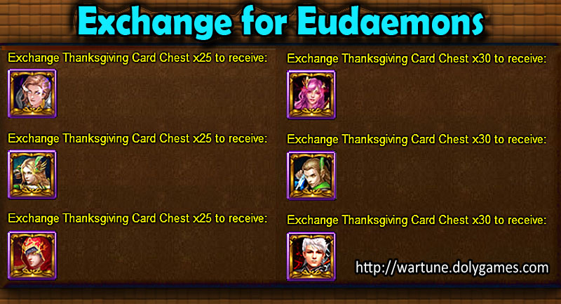 Exchange for Eudaemons - Wartune Events 23 November 2015