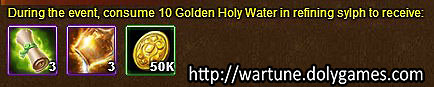 Golden Holy Water - Wartune Events 8 November 2015